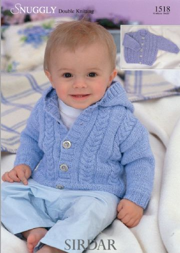 Boys Collared or Hooded Cardigan Knitting Pattern, Sirdar 1518